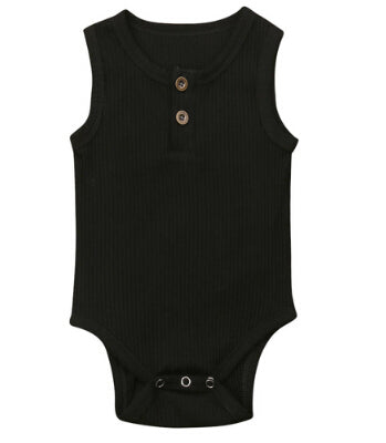 Henley Bodysuits - Black