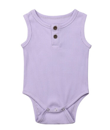 Henley Bodysuits - Purple