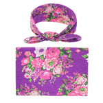 Swaddle Wrap + Headband - Purple