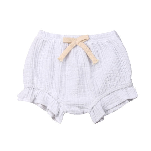 Ruffle Bloomers - White