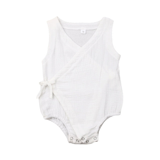 Side Tie Bodysuit - White