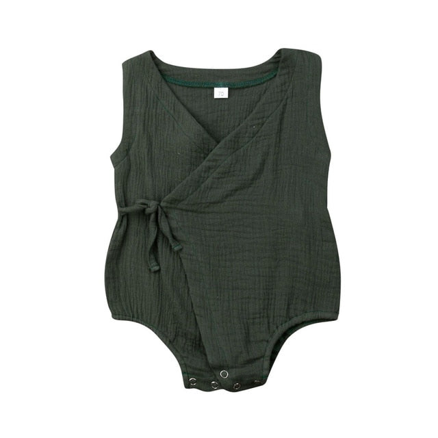Side Tie Bodysuit - Green