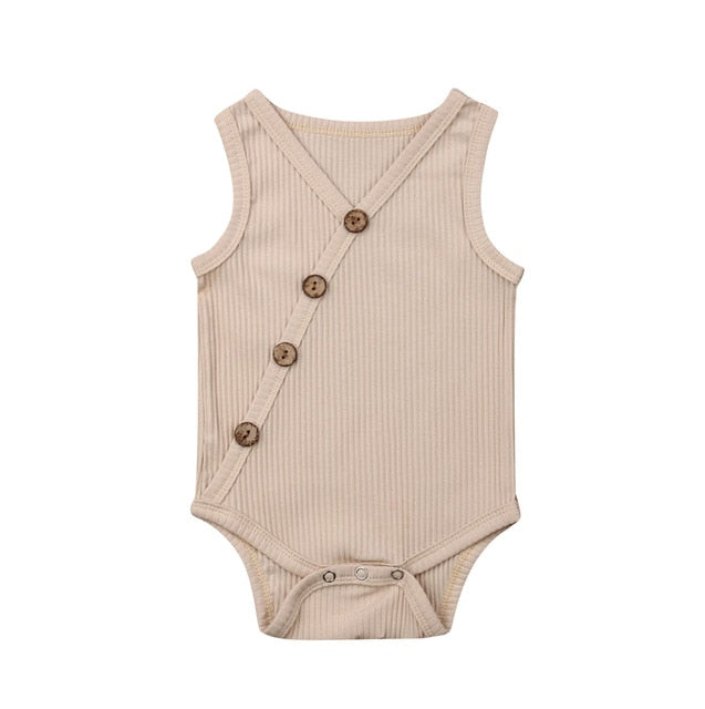 Button Bodysuit - Beige