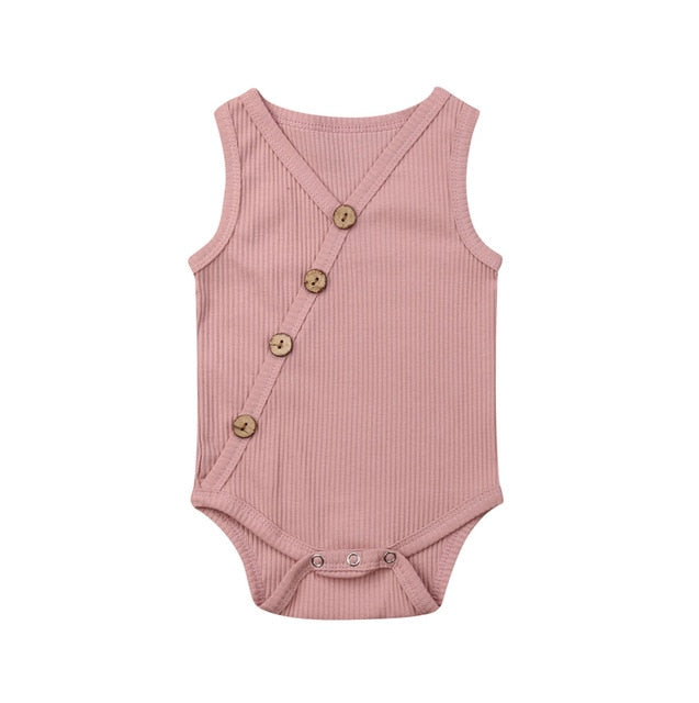 Button Bodysuit - Blush