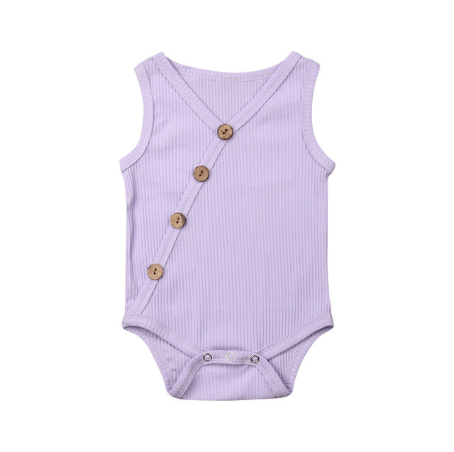 Button Bodysuit - Lavender
