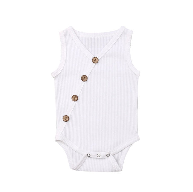 Button Bodysuit - White