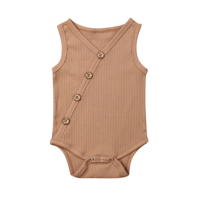 Button Bodysuit - Latte
