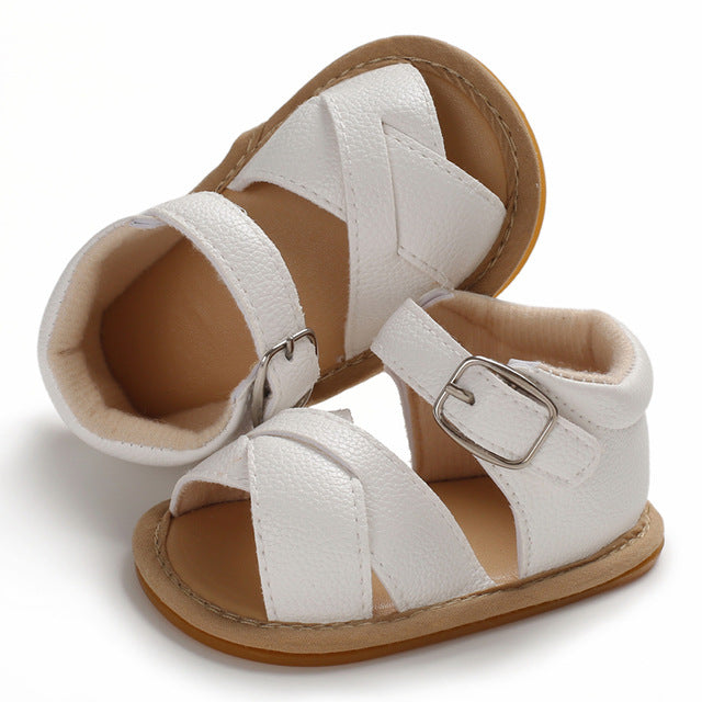 Woven Sandals - White