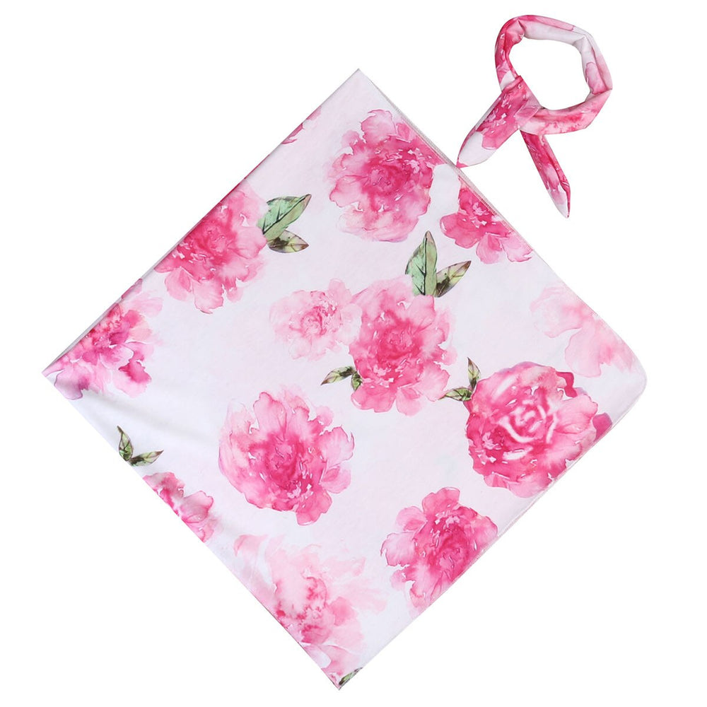 Swaddle Blanket Set - Pink Flowers