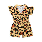 Leopard Button Up Romper