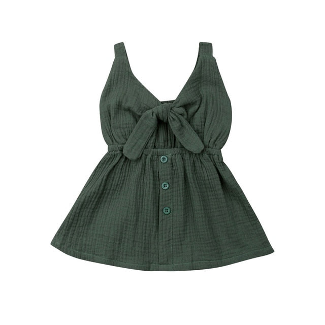 Bow Front Dress - Green