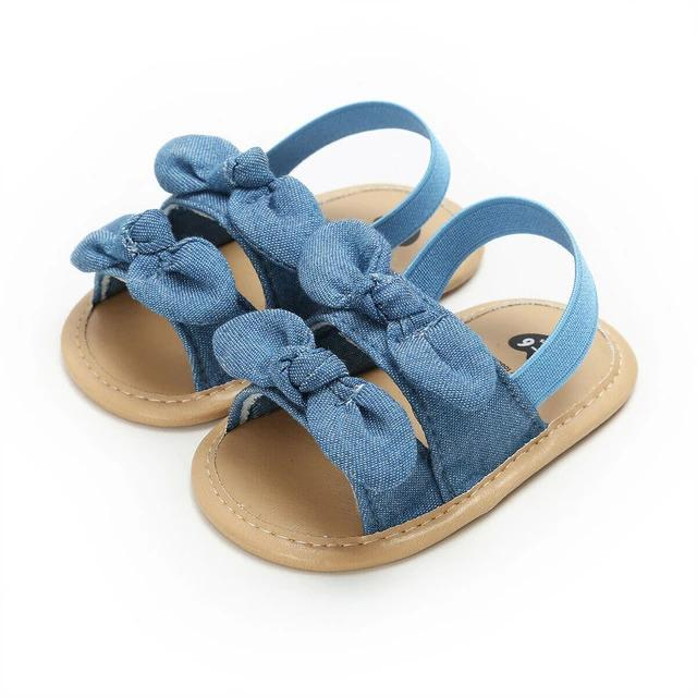 Chambray Bow Sandal