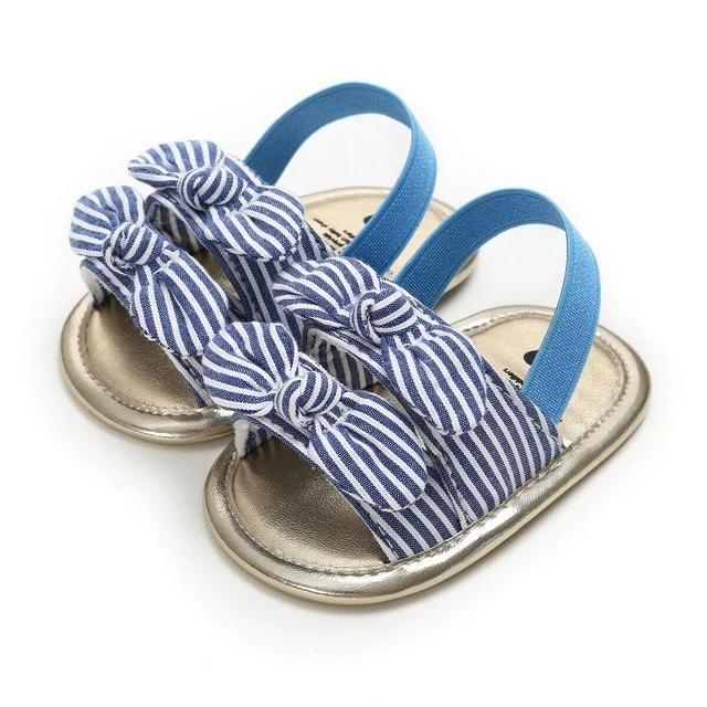Stripe Bow Sandal