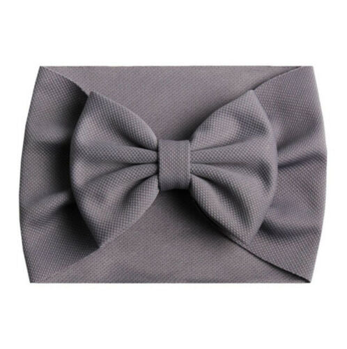 Bow Headband - Grey