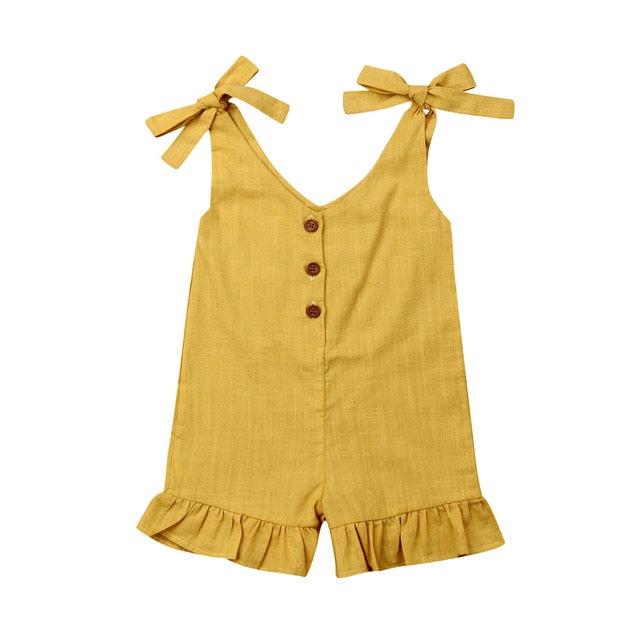 Beach Days Jumpsuit - Mustard