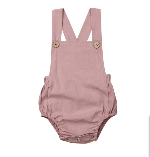 Basic Romper Dusty Pink