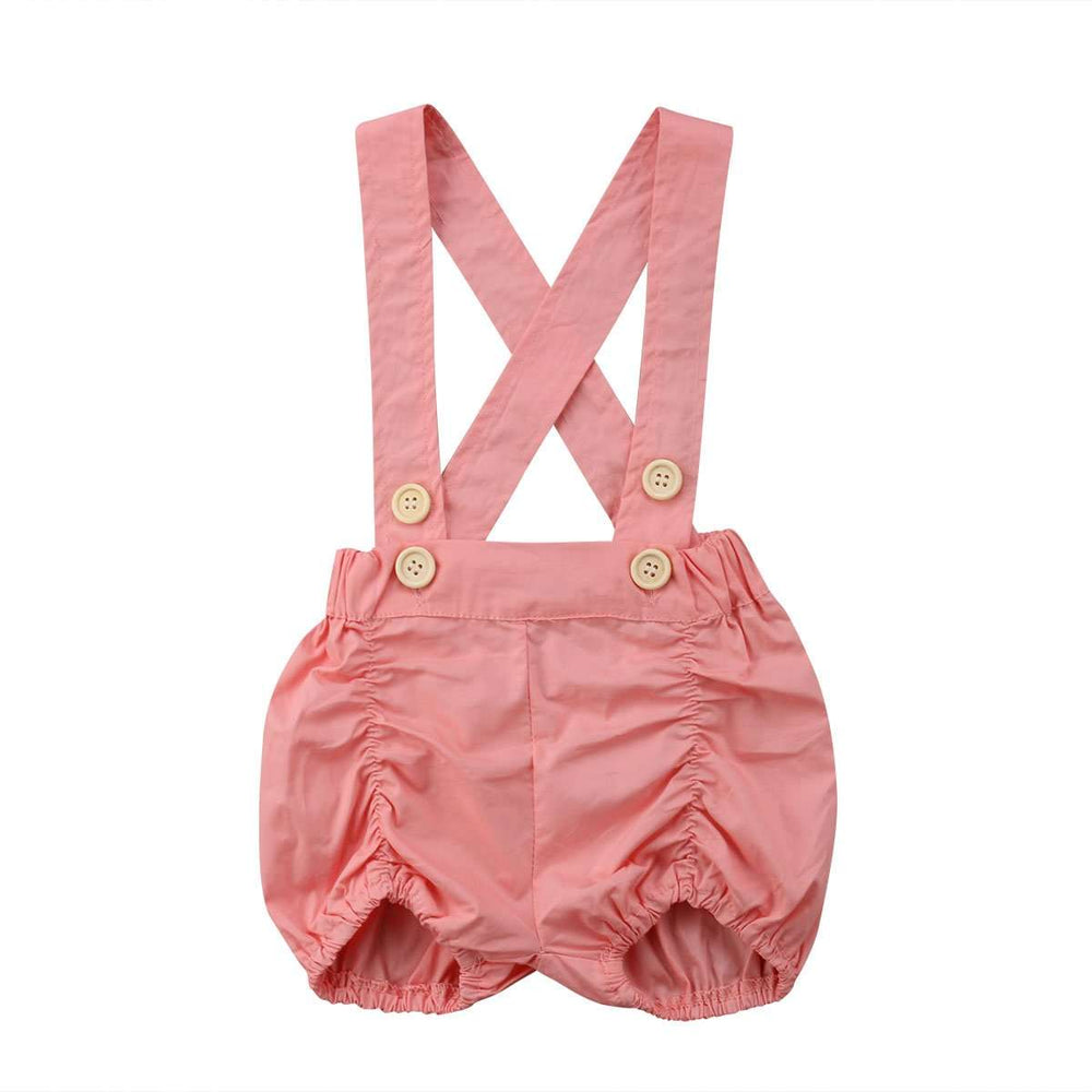 Suspender Shorts - Pink