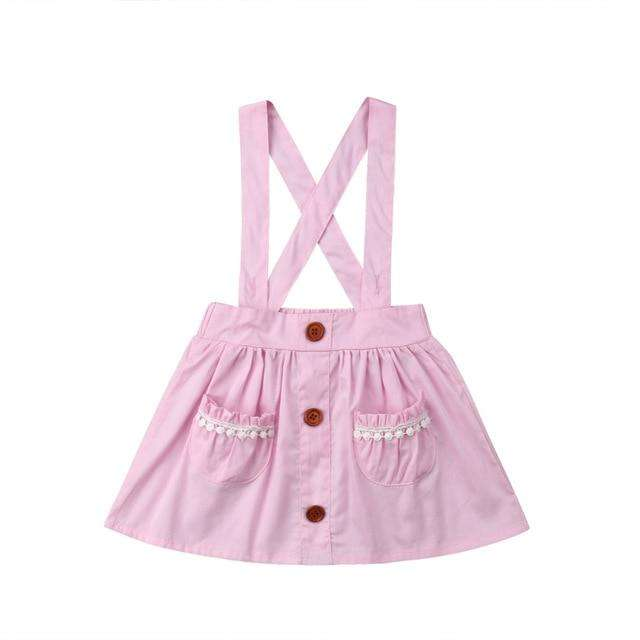 Suspender Skirt - Pink