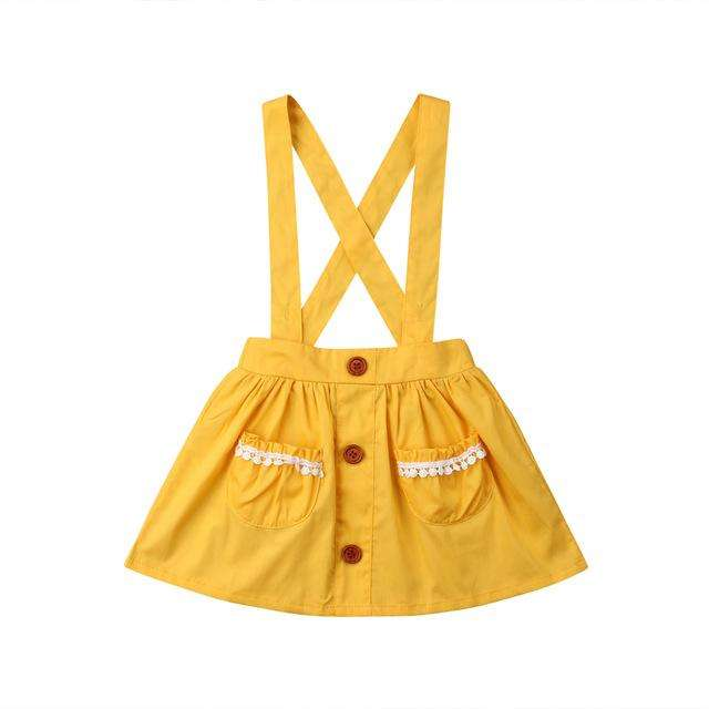 Suspender Skirt - Yellow