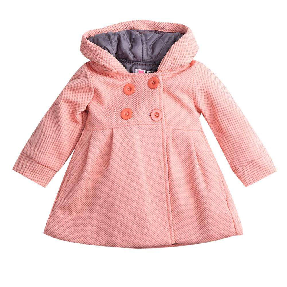Swing Coat - Peach