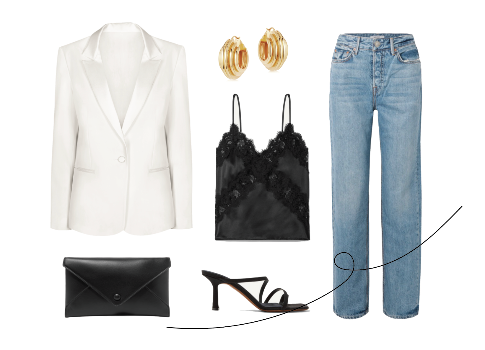 styling a white jacket; casual suit style