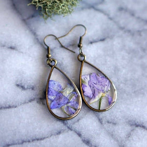 February Birth Flower Earrings
