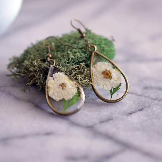 April Birth Flower Earrings
