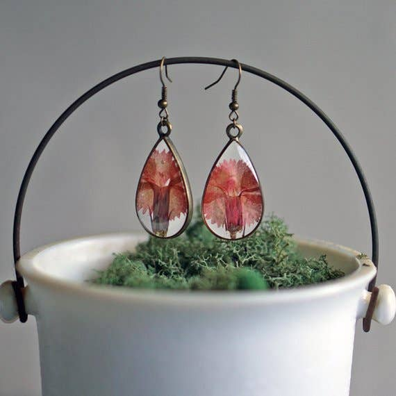 January Birth Flower Earrings