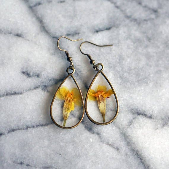October Birth Flower Earrings