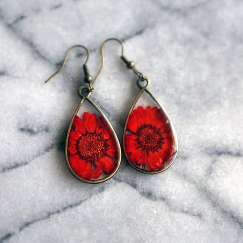 November Birth Flower Earrings