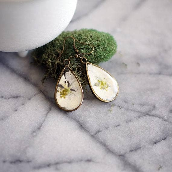 December Birth Flower Earrings