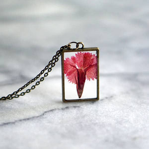 January Birth Flower Necklace