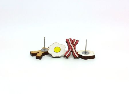 Bacon & Eggs Earrings