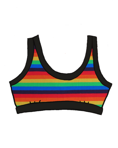 Rainbow Stripe Thunderpants Bralette