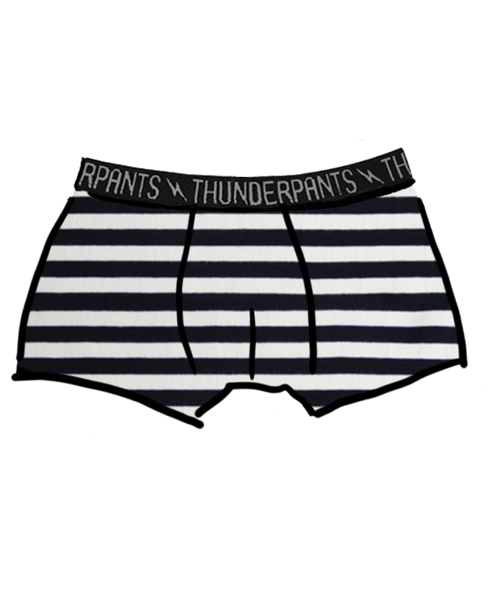 Men's Boxer Brief - B&W Stripe
