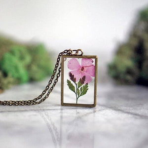 August Birth Flower Necklace