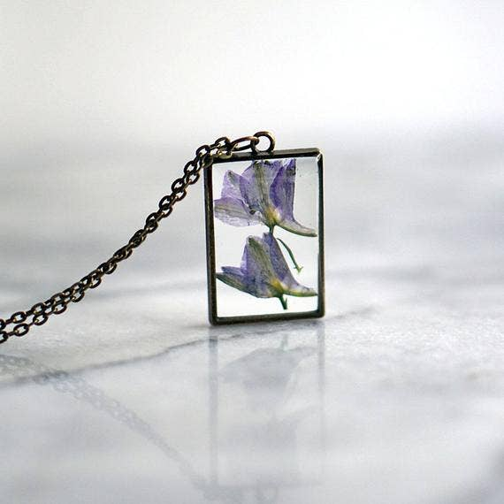 February Birth Flower Necklace