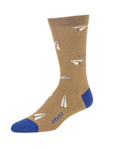 Men's Crew Sock - Brian Paper Airplane