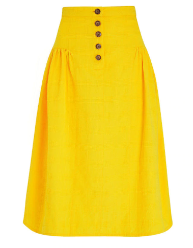 Epperly Midi Skirt in Yellow