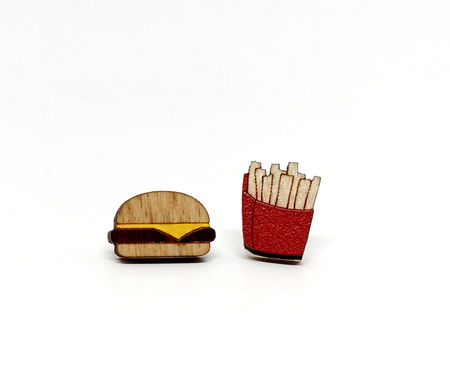 Burger & Fries Earrings