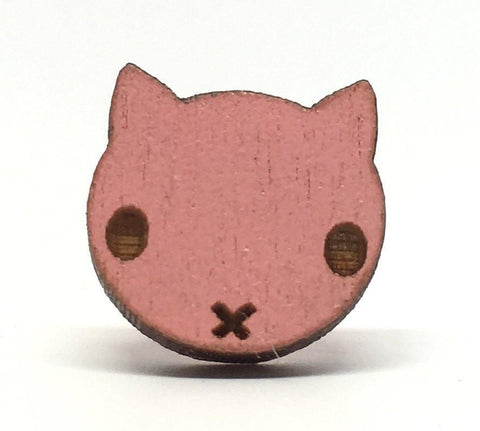 Pink Cat Earrings
