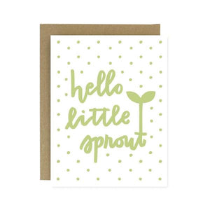 Hello Little Sprout Card