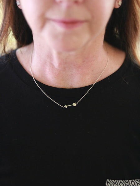 Wandering Arrow Sterling Silver Necklace