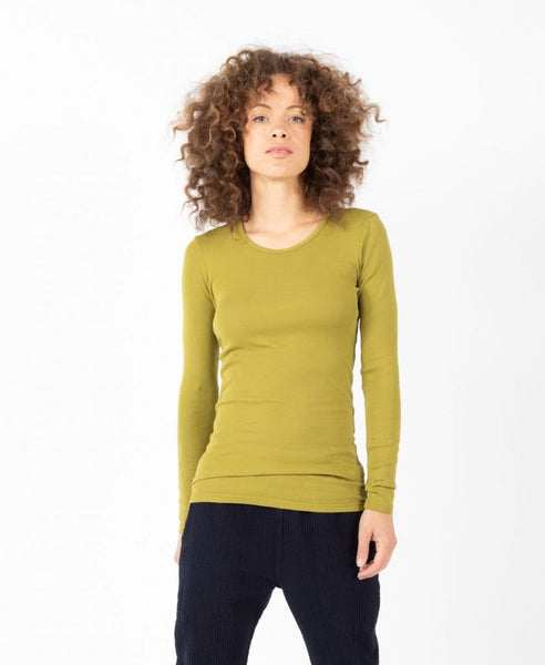 Long Sleeve Crewneck in Fern