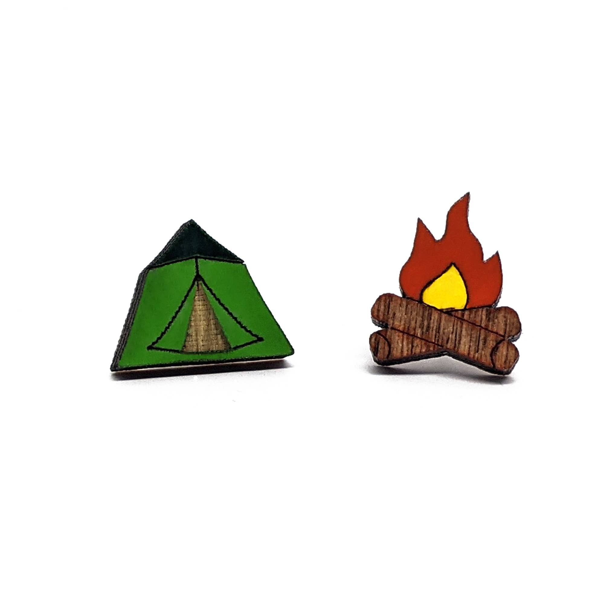 Camping Earrings