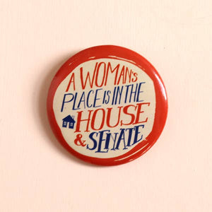 Woman's Place Button