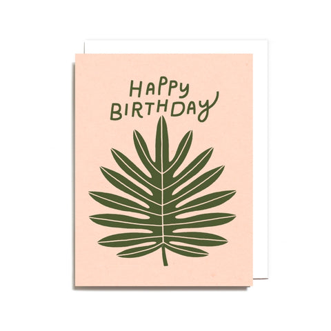 Leaf Birthday Greeting Card