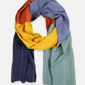 Colorblock Straight Scarf
