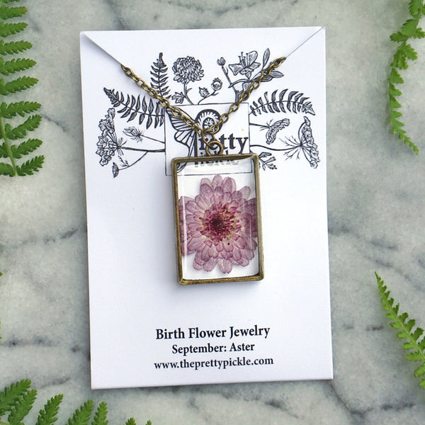 September Birth Flower Necklace