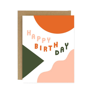 Birthday Shapes Greeting Card